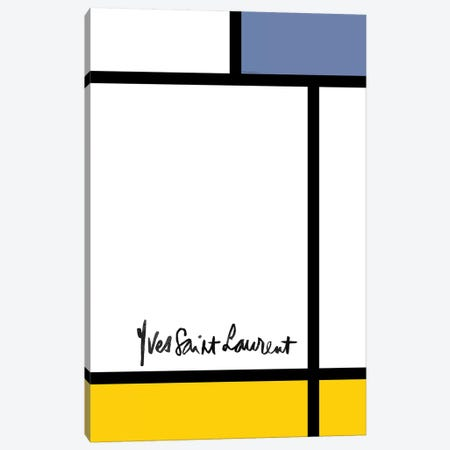 YSL Mondrian Canvas Print #MLC153} by Mercedes Lopez Charro Canvas Wall Art