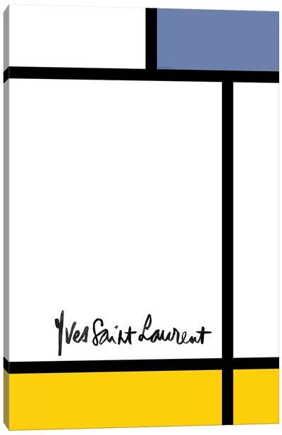 YSL Mondrian Canvas Art Print