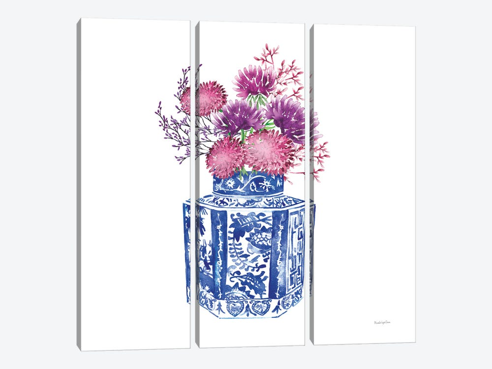 Chinoiserie Style III by Mercedes Lopez Charro 3-piece Canvas Print
