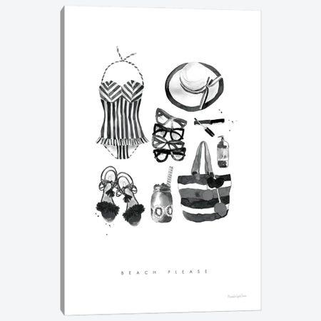 Back To Black V Canvas Print #MLC176} by Mercedes Lopez Charro Art Print