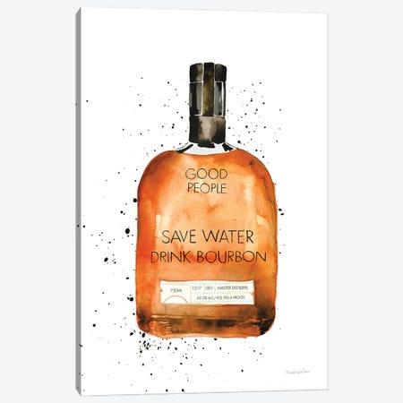 Save Water Drink Bourbon Canvas Print #MLC177} by Mercedes Lopez Charro Canvas Print