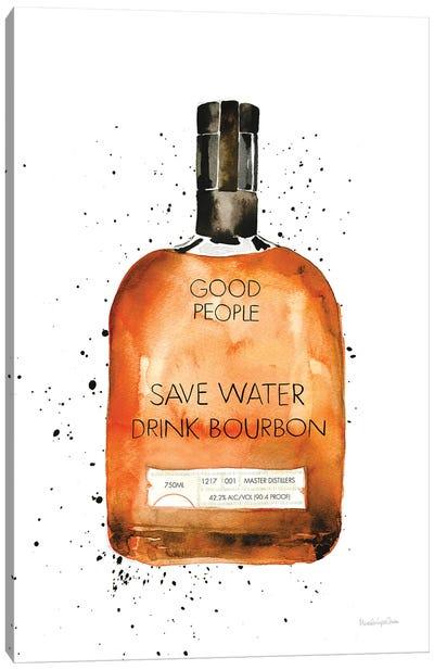 Save Water Drink Bourbon Canvas Art Print