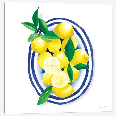 Spanish Lemons I Canvas Print #MLC184} by Mercedes Lopez Charro Canvas Wall Art