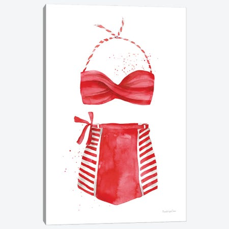 Vintage Swimwear II Canvas Print #MLC189} by Mercedes Lopez Charro Art Print
