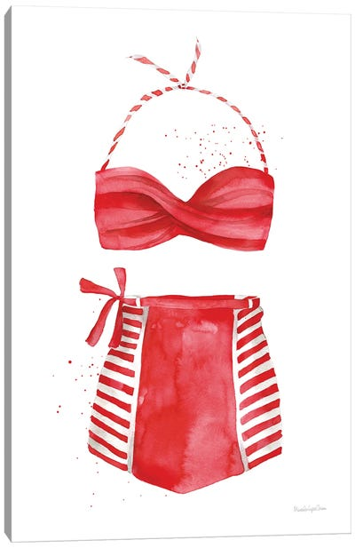 Vintage Swimwear II Canvas Art Print