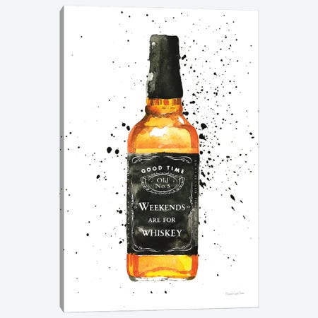 Weekends Are For Whiskey Canvas Print #MLC190} by Mercedes Lopez Charro Canvas Art