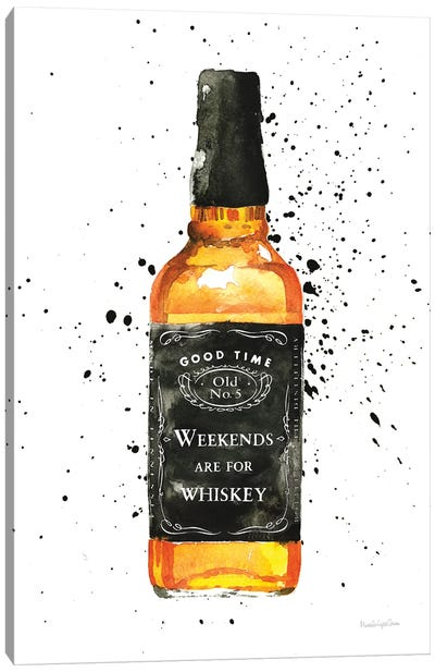 Weekends Are For Whiskey Canvas Art Print