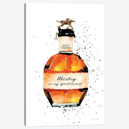 Whiskey Spirit Animal Canvas Print #MLC191} by Mercedes Lopez Charro Canvas Art