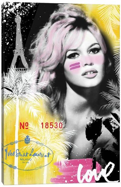 Bardot Graffti Canvas Art Print