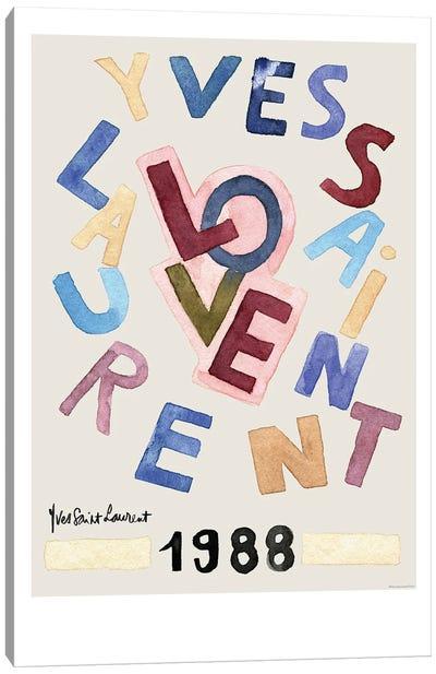 Vintage Love Canvas Art Print
