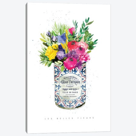 Summer Flowers in Vintage Can Canvas Print #MLC226} by Mercedes Lopez Charro Art Print