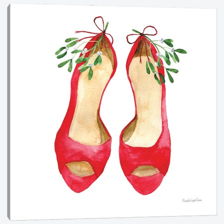 Christmas Shoes II Canvas Print #MLC276} by Mercedes Lopez Charro Canvas Wall Art