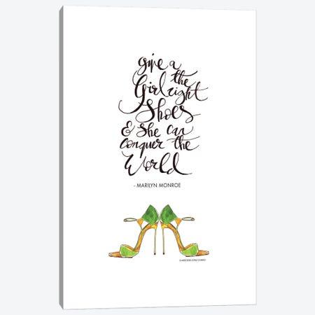 Give A Girl Canvas Print #MLC27} by Mercedes Lopez Charro Canvas Art