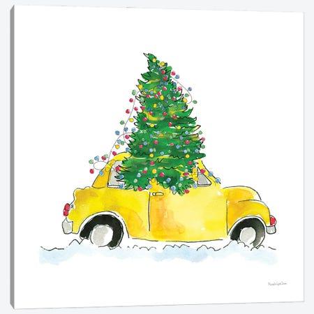 Holiday Taxi Canvas Print #MLC282} by Mercedes Lopez Charro Canvas Artwork