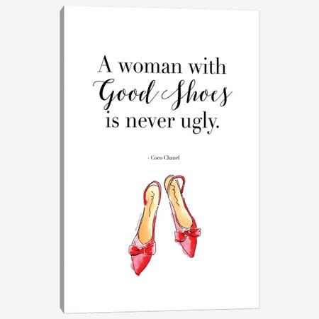 A Woman With Good Shoes Canvas Print #MLC2} by Mercedes Lopez Charro Art Print