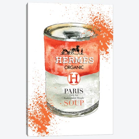 Hermes Soup Canvas Print #MLC30} by Mercedes Lopez Charro Canvas Artwork