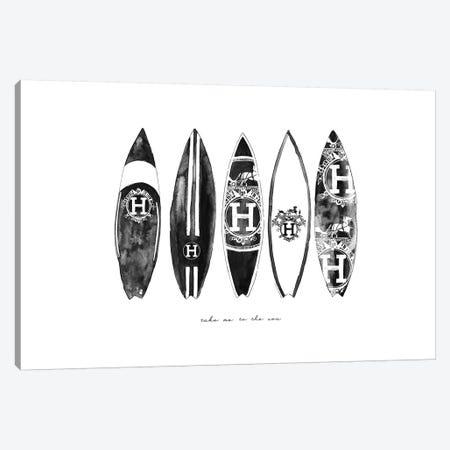 Hermes Surf 3-Piece Canvas #MLC31} by Mercedes Lopez Charro Canvas Art