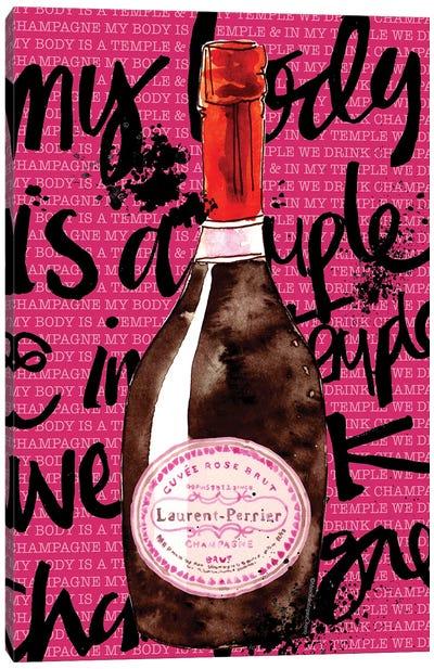 Laurent-Perrier Pink Canvas Art Print