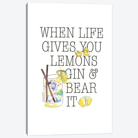 Life Gives You Lemons 3-Piece Canvas #MLC38} by Mercedes Lopez Charro Canvas Wall Art
