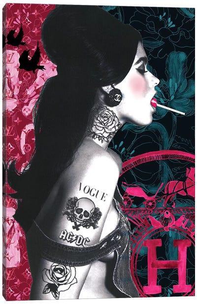 Lollypop Girl Canvas Art Print
