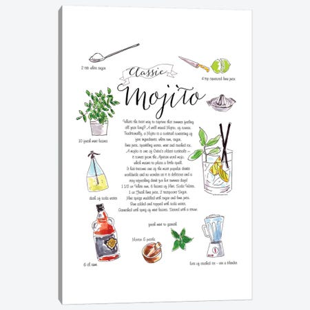 Mojito Canvas Print #MLC45} by Mercedes Lopez Charro Canvas Art