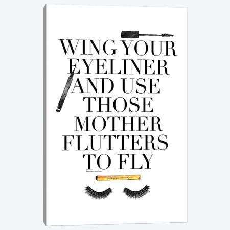 Mother Flutters Canvas Print #MLC46} by Mercedes Lopez Charro Canvas Art