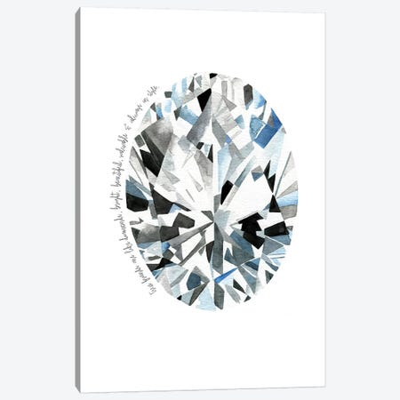 Oval Diamond Canvas Print #MLC48} by Mercedes Lopez Charro Canvas Art Print