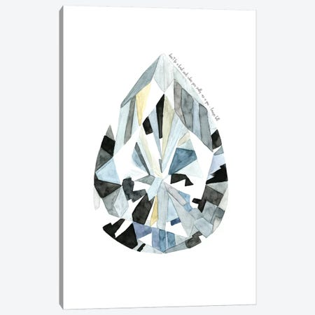 Pear Diamond Canvas Print #MLC49} by Mercedes Lopez Charro Canvas Art Print