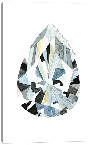Pear Diamond Canvas Art Print