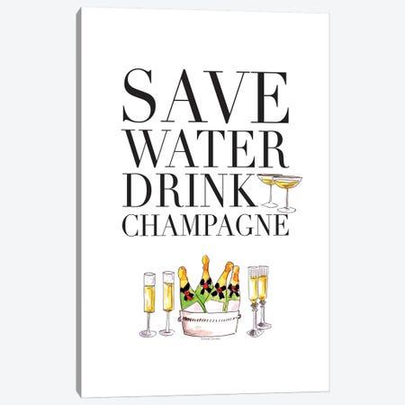 Save Water Canvas Print #MLC51} by Mercedes Lopez Charro Canvas Artwork