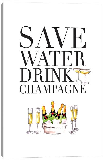 Save Water Canvas Art Print