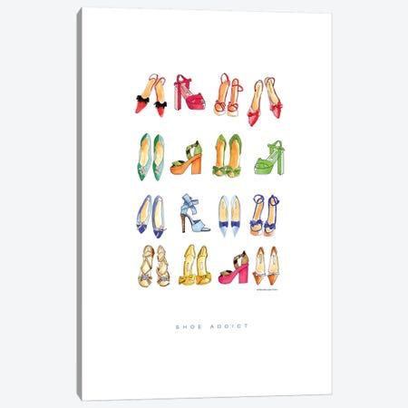 Shoe Addict Canvas Print #MLC53} by Mercedes Lopez Charro Canvas Artwork
