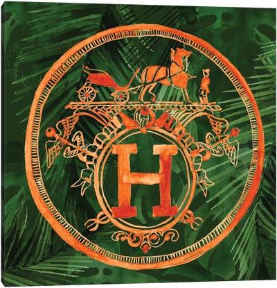 Square Hermes Jungle Canvas Art Print