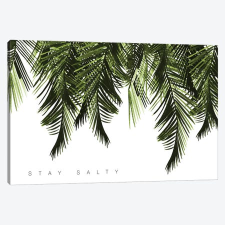 Stay Salty Green Canvas Print #MLC56} by Mercedes Lopez Charro Art Print