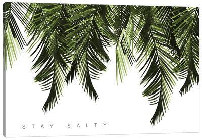 Stay Salty Green Canvas Art Print