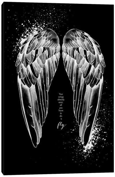 Wings Invert Canvas Art Print