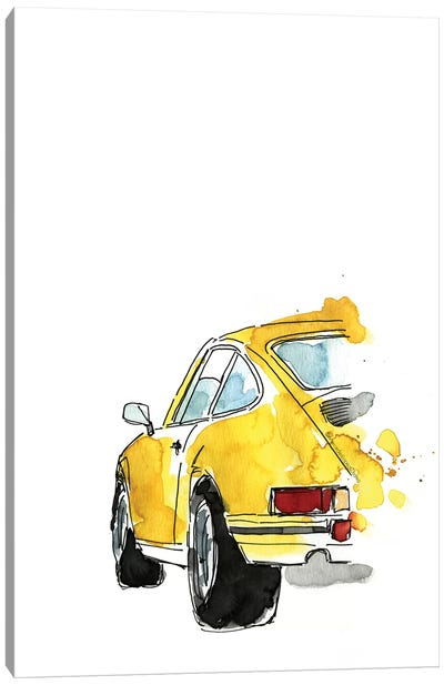 Yellow Porsche Canvas Art Print