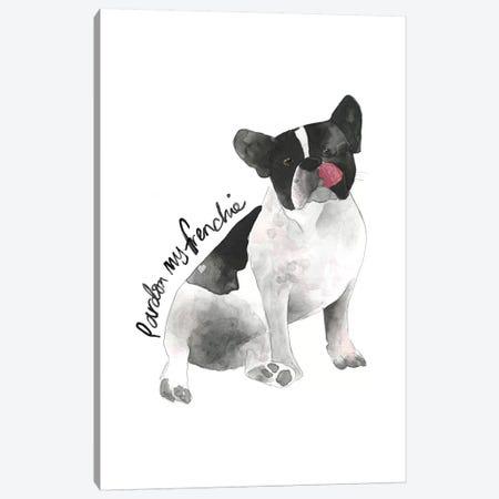 Frenchie Dog Canvas Print #MLC65} by Mercedes Lopez Charro Canvas Wall Art