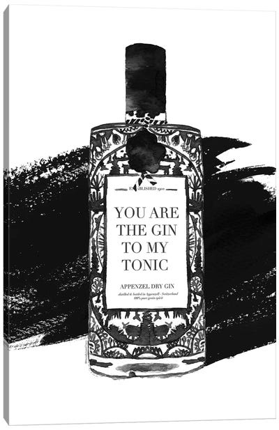 Gin To My Tonic Canvas Art Print