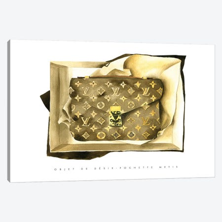 Louis Vuitton Bag Canvas Print #MLC68} by Mercedes Lopez Charro Canvas Print