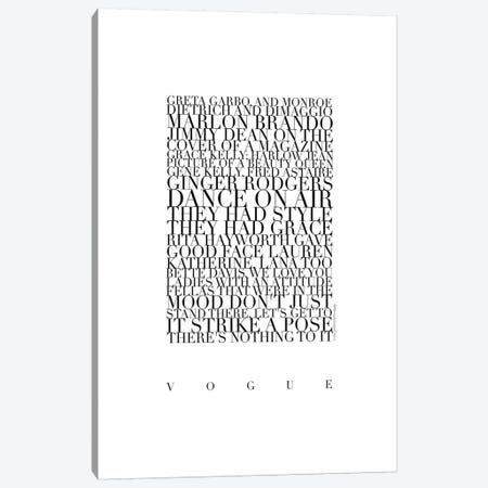 Madonna Vogue Lyrics Canvas Print #MLC70} by Mercedes Lopez Charro Canvas Artwork