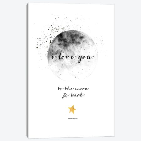 Moon And Back 3-Piece Canvas #MLC71} by Mercedes Lopez Charro Canvas Art