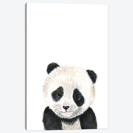 Panda Baby Canvas Print #MLC72} by Mercedes Lopez Charro Canvas Art