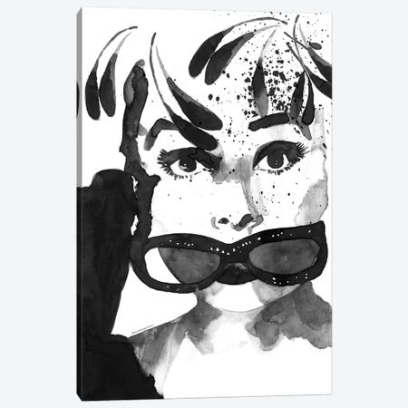 Audrey Feathers Canvas Print #MLC77} by Mercedes Lopez Charro Canvas Print