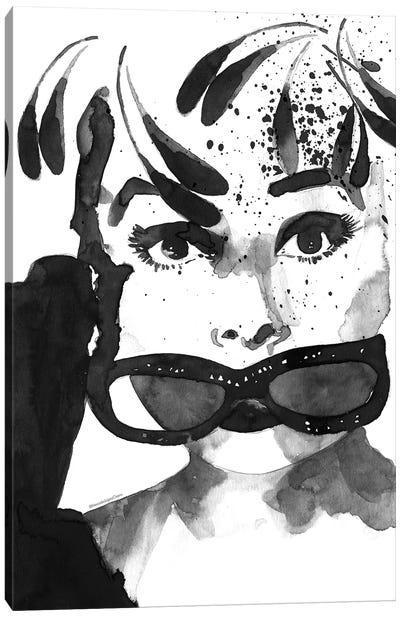 Audrey Feathers Canvas Art Print