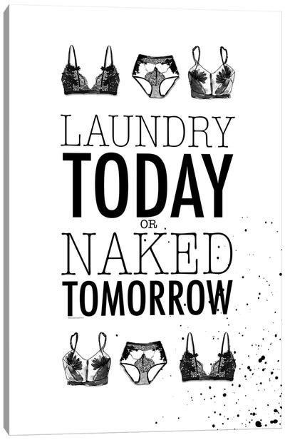 Laundry Today Canvas Art Print