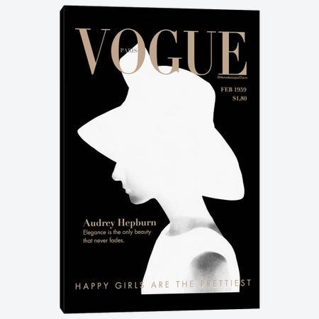 Audrey Vogue Canvas Print #MLC87} by Mercedes Lopez Charro Canvas Art