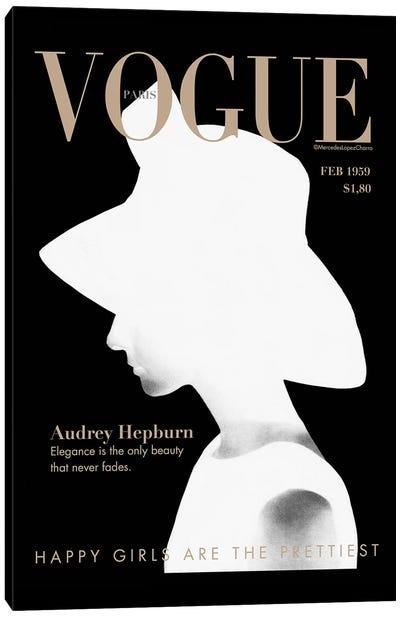 Audrey Vogue Canvas Art Print
