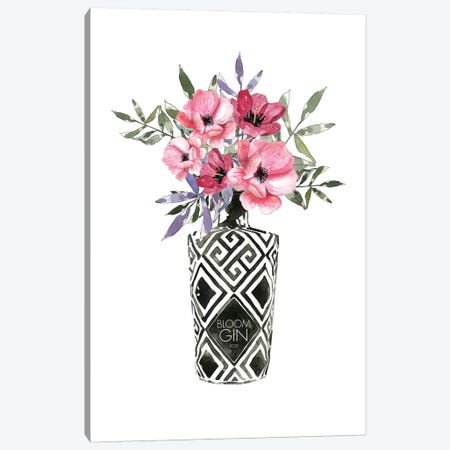 Blooms In Bottle Canvas Print #MLC88} by Mercedes Lopez Charro Art Print