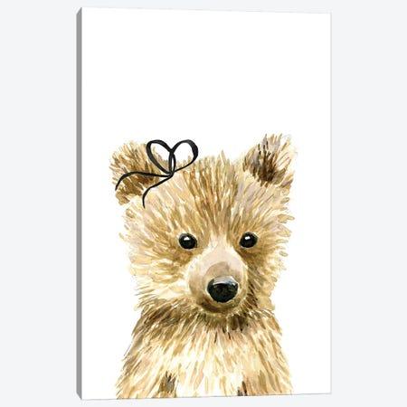 Bear With Bow Canvas Print #MLC89} by Mercedes Lopez Charro Art Print